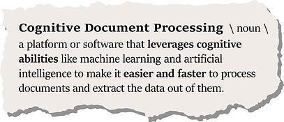 what is cognitive document processing