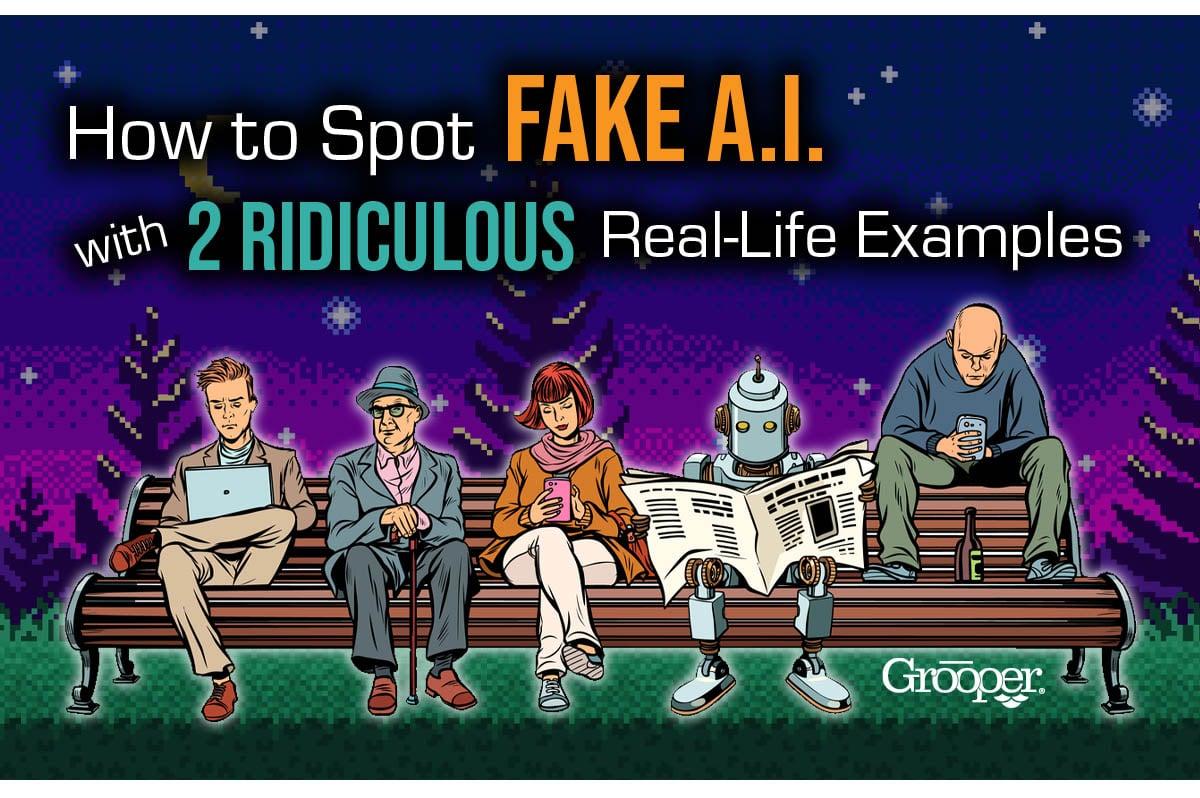 how to spot fake AI