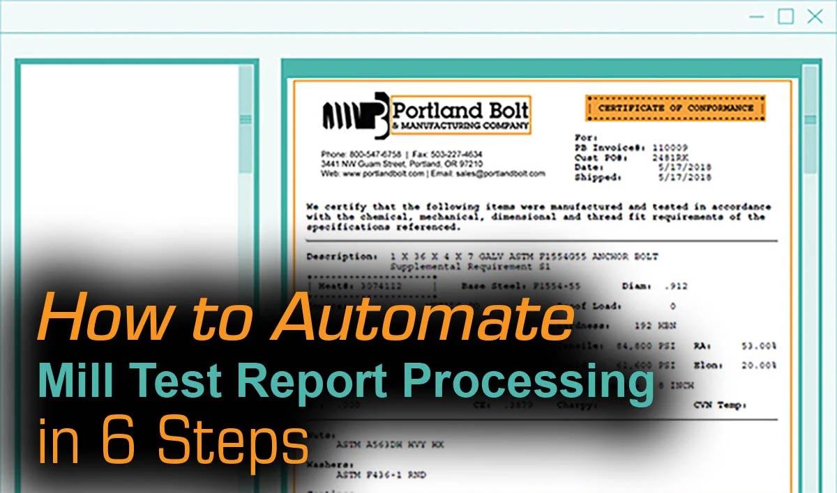 mill test report