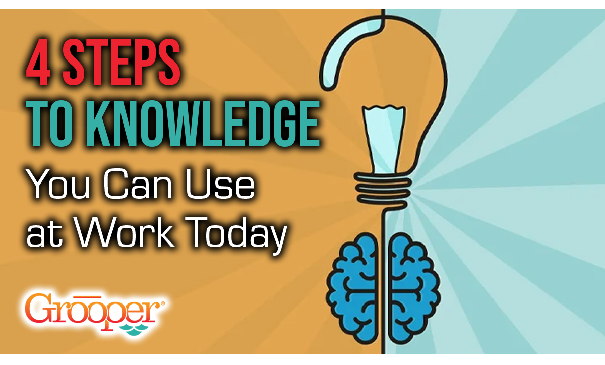 4 Steps to Knowledge You Can Use at Work Today